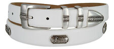 "Golf of Scottsdale - Mens Leather Italian Calfskin Concho Dress Belt 1-1/8"" Wide"