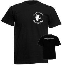 T-SHIRT nera 15° Cp Diavoli neri  Paracadutisti Folgore stampata fronte retro