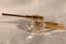 Gold, Brass & Swarovski Crystal Cannon Artillery Howitzer 24K Gold On Brass