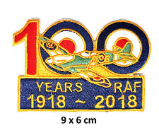 100 Glorious Years of RAF Royal Air Force Embroidered Iron Sew On Patches Badge