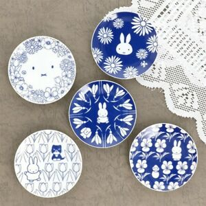 Miffy Mini Dish Plate 5 Set Season Flowers Porcelain 118mm Japan Limited