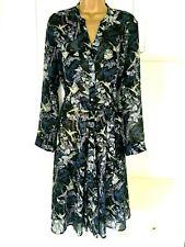 "Per Una size uk 14 nwt £49 unlined sheer chiffon floral print Tea dress bust 40"""