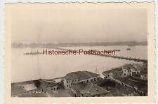 (F2523) Orig. Foto Nikopol (Bulg.), Ponton-Brücke m. Öffnung f. Schiffe 1940er