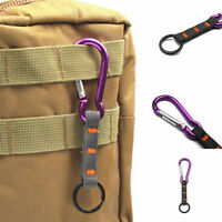 1pc Carabiner Clip Hiking Climbing Hook Buckle With Strap Key Ring Keychain