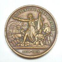 c. 1871 France - Siege of Paris Jeton de Presence, Personally Inscribed.