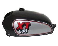 Yamaha Xt Tt 500 Silver & Black Painted Aluminum Petrol Fuel Tank 1980 Model CAD