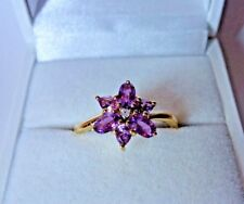 1.5 ct Natural Purple Sapphire 10K Yellow Gold ring size 8