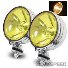 """2 x 6"""" Yellow Lens 55W Halogen Off Road Fog Driving Light For Jeep/ATV/Work Lamp"""
