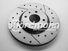 INTERCAR Disco de freno perforado y ranurado para Fiat 284 mm
