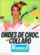 PUBLICITE ADVERTISING 036  1980  Europe 1 radio Ondes de choc S. Collaro