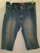"""Lazer Jeans"" Denim Cropped Capris Sz 11 Stretch 16"" Inseam"