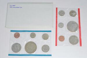 1976 Uncirculated U.S. Mint Set - 12 Coins P&D Including 2 Bicentennial Ike *112
