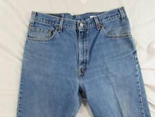USA Made Levi 505 Straight Leg Regular Fit Faded Denim Jean Tag 36x32 Meas 36x32