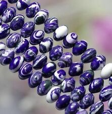 5x8mm Purple Turkey Turquoise Gems Abacus Loose Beads 15'##HK2103