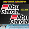 2 x Abu Garcia 20cm Vinyl Sticker Decal, for Boat 4X4 Car Tacklebox Esky Fishing
