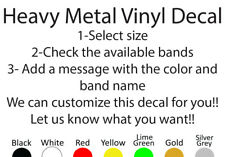 HEAVY METAL VINYL DECAL STICKER CUSTOM SIZE AND COLOR BANDS BY LETTER A