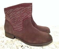 Carlos By Carlos Santana Alton Riding Ankle Boots Suede Pull On Brown 10 M $129