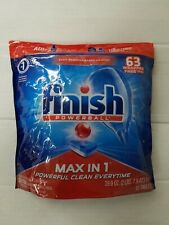 e Finish Max in 1 Powerball 63ct Wrapper Free Dishwasher Detergent Tablets tabs