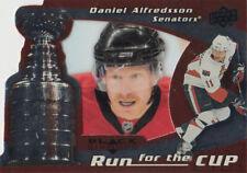 08-09 Black Diamond RUN FOR THE CUP xx/100 Made! Daniel ALFREDSSON - Senators