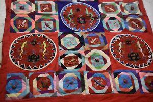 Rare Hand /Machine Quilt /Wall Hanging, Pattern Mat'l, 2-D Animals & Crochet-11