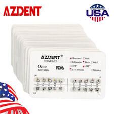 20x Azdent Dental Orthodontic Brackets Standard Roth Slot022 Hooks 3 4 5