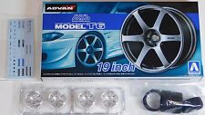 "Aoshima 1/24 AVS Model T6 19"" Wheel Rims & Tire Set for Models 5379 (46)"