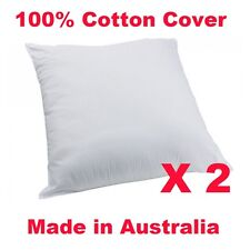 2xBrand New COTTON Cover European Pillow Cushion Insert Polyester Fibre 65x65cm