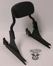 Harley-Davidson Softail Flat Black Sideplates, Short Sissy Bar, Backrest Pad EUC