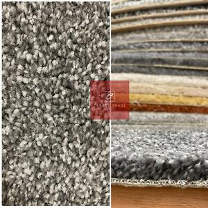 Carpet 17mm Thick Luxury Soft Saxony Carpets Sale Flecked Lounge Bedroom Grey