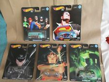 Hot Wheels 2018 Alex Ross DC Heroes 5 Cars Real Riders Superman Batman
