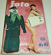 FOTO #45~The Magazine Of Sophisticated Camera Art~UK Pin-Up Digest~B&W/Color CF