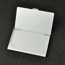Business ID Credit Card Case silver Metal Box Holder Stainless Steel Pocket