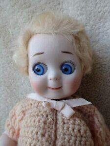 """Darling All Bisque Googly Eye Repro Artist Doll 10 1/2"""" Marianne De Nunez"""