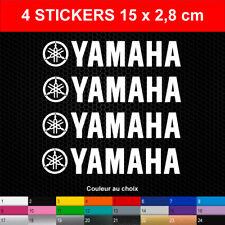 Stickers YAMAHA 4 Autocollants Moto Adhésifs Bécane Scooter Quad 15x2,8 cm