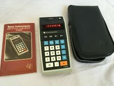 Vintage Texas Instruments Calculator TI-2550, Red LED Display Tested Works