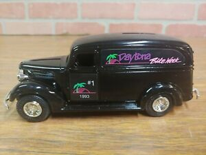 Daytona Bike Week 1993, 38 Ford Panel Delivery Van Diecast Bank #1 in Series