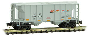 Micro-Trains MTL Z-Scale 2-Bay PS Covered Hopper BNSF Swoosh Logo #405619