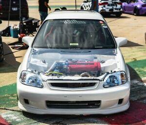 Hood clear  rare JDM for Honda civic EK 1999-2000  4Dr / 3DR / 2DR