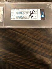 Autographed Vince Neil Motley Crue ticket Barclays center PSA certified slabbed
