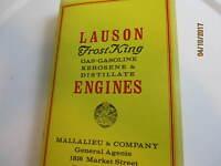 John Lauson frost King  Engine Catalog 1916