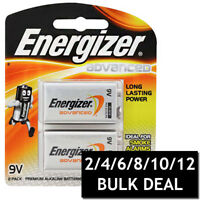 ENERGIZER ADVANCED 9V BATTERY ALKALINE BATTERIES LONG LASTING POWER TOYS BULK