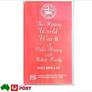 The History Of World War II VHS With Robert Hardy Volumes I-III