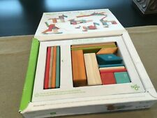 Tegu Magnetic Wooden Blocks Sunset Tint 14 Piece Set + 1 Extra Block