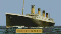 "Titanic Complete Counted Cross Stitch Kit 17.8"" x 10"""