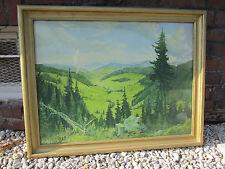 Landschaftsbild aus der Zeit 1900 bis 1940 im Holzrahmen 90x73cm