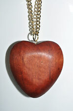JULES SMITH 14k Yellow Gold Wood Charm Pendant Natures Heart Necklace