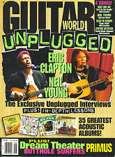 6/93 GUITAR WORLD magazine  NEIL YOUNG ERIC CLAPTON cover  Dream Theater
