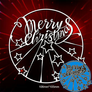 Merry christmas Metal Cutting Dies Scrapbooking Embossing Cards Crafts Stencils