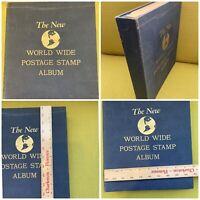 1952 New World Wide Postage Stamp Album MINKUS 400+ Stamps