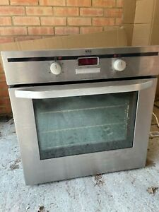 AEG Competence built-in single oven, used, stainless steel.